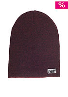 NEFF Optic Heather Beanie maroon/black