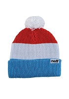 NEFF Snappy Beanie blue/white/red