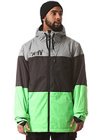 NEFF Trifecta Snow Jacket grey/black/slime