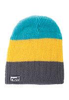 NEFF Trio Beanie charcoal/yellow/teal