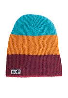 NEFF Trio Beanie maroon/orange/teal