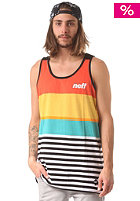 NEFF Wide Stripe Tank Top red yellow