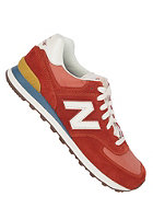 NEW BALANCE 574 Shoe red/ turquoise