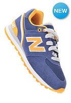 NEW BALANCE Kids KL574 jnp navy/yelow