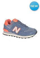 NEW BALANCE Womens WL574 pbl blue/orange