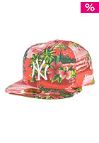 NEW ERA Allover Island New York Yankees Fitted Cap red tropical