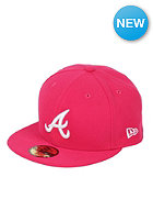 NEW ERA Atlanta Braves League Basic MLB Fitted Cap bright rose