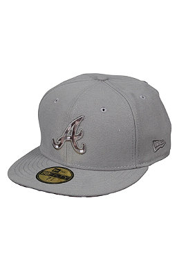 NEW ERA Atlanta Braves Plaid Fill Cap gray