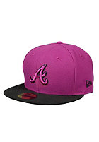 NEW ERA Atlanta Braves Poptonal Outline Cap sparking grape/black