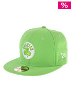 NEW ERA Boston Celtic Leag Basic Cap lime/white