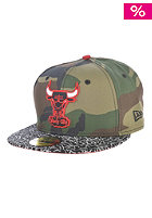 NEW ERA Camo Hook D Chicago Bulls WDC Fitted Cap woodland