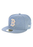 NEW ERA Chamsuede Boston Red Sox Fitted Cap blue/camel