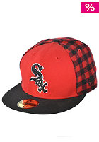 NEW ERA Chicago White Sox PC Plaid Fitted Cap scarlet/black