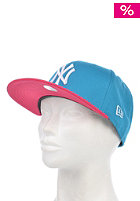 NEW ERA Cotton Block 3 Snapback Cap blue jewel/bright rose