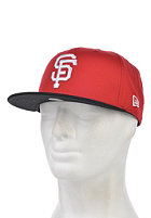 NEW ERA Cotton Block 5 San Fransisco Giants Snapback Cap scarlet/black