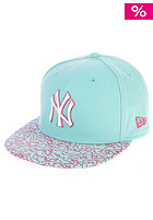 NEW ERA Crackle Visor New York Yankees Fitted Cap blue tint/beetroot