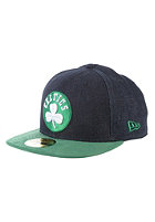 NEW ERA Densuede Boston Celtics Fitted Cap denim/team