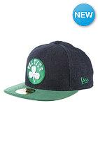 Densuede Boston Celtics Fitted Cap denim/team