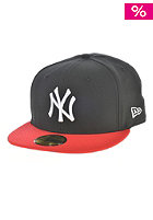 Diamond Era Pop New York Yankees Fitted Cap black/scarlet