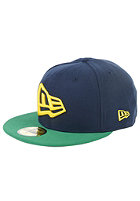 NEW ERA Flag OS Fitted Cap blue/off yellow