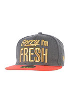 NEW ERA Fresh Metallic Cap heather graphite/hot red