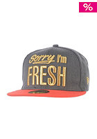 NEW ERA Fresh Metallic heather graphite/hot red