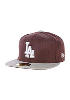 NEW ERA Heather Blende LA Dodgers Cap heather maroon/heather grey