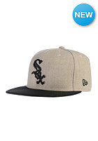 NEW ERA Heather Cont Chicago White Sox Fitted Cap heather oatmeal/black