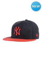 NEW ERA Heather Cont New York Yankees Fitted Cap heather navy/hot red