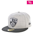 Heather Pop Brooklyn Nets Fitted Cap black