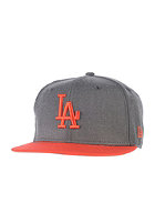 NEW ERA Heather Pop LA Dodgers Snapback Cap heather graphite/hot red
