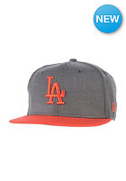 NEW ERA Heather Pop LA Dodgers Snapback Cap heather graphite/hot red