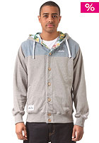 NEW ERA Island Button Front Hooded Sweat grey