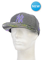 NEW ERA Island Visor New York Yankees Snapback Cap graphite / purple