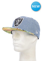 NEW ERA Island Visor Oakland Raiders Snapback Cap blue sky