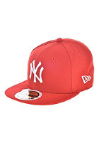 NEW ERA Kids 59 Fifty MLB League Basic New York Yankees Fitted Cap scarlet/white