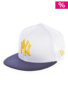 NEW ERA Kids Cotton Block 6 New York Yankees Snapback Cap white/navy