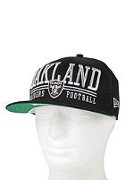 NEW ERA Lateral Oakland Raiders Snapback Cap black