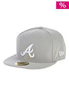 League Basic Atlanta Braves Fitted Cap grey