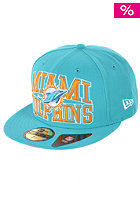 NEW ERA Logo Stack Miami Dolphins Cap team colour