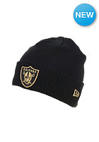NEW ERA Metallic Knit Oakland Raiders Beanie black