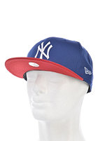 NEW ERA MLB Cotton Block New York Yankees Snapback Cap light royal/scarlet/white