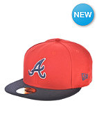 NEW ERA MLB Reverse Atlanta Braves Team Fitted Cap red