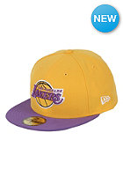 NEW ERA NBA Basic LA Lakers Cap yellow / purple