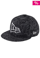 NEW ERA NE Logo Fitted Cap black allover