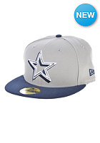 NEW ERA Neon Logo Pop Dallas Cowboys Team Fitted Cap blue