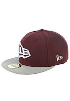 NEW ERA New Era Flag Fitted Cap maroon/grey/white