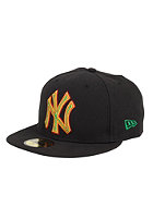 NEW ERA New York Yankees Four Stitch Cap black/scarlet
