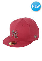 NEW ERA New York Yankees Washed Out Fitted Cap cardinal/graphite