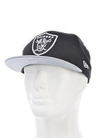NEW ERA NFL Cotton Block Oakland Raiders Snapback Cap grey/black